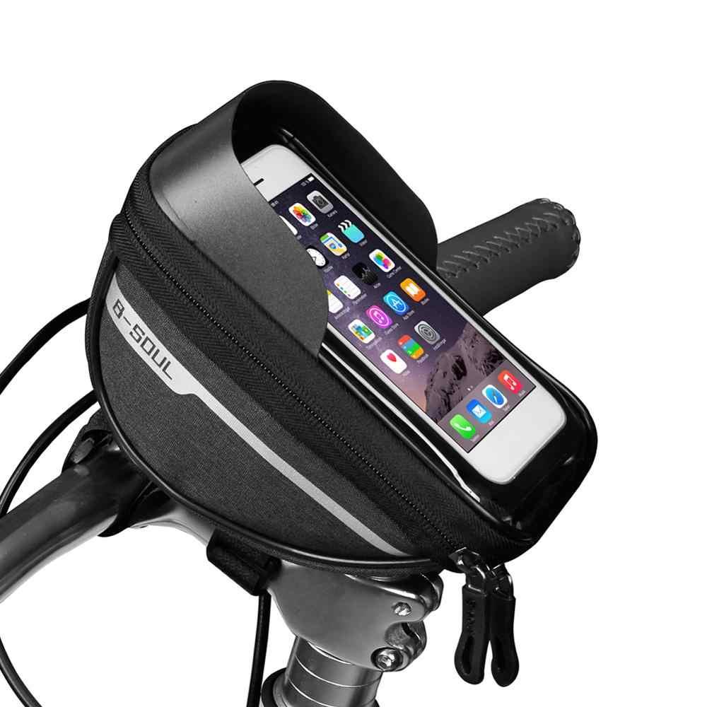 サイクリング自転車バイクヘッドチューブハンドル携帯電話バッグケースホルダーケース防水タッチスクリーンポリエステル自転車バッグ