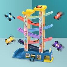 Montessori de pista de carreras de juguete para niños de 2 a 4 años de edad aparcamiento coche de pista de carreras de juguete para niños 1 años aparcamiento juguete para regalo