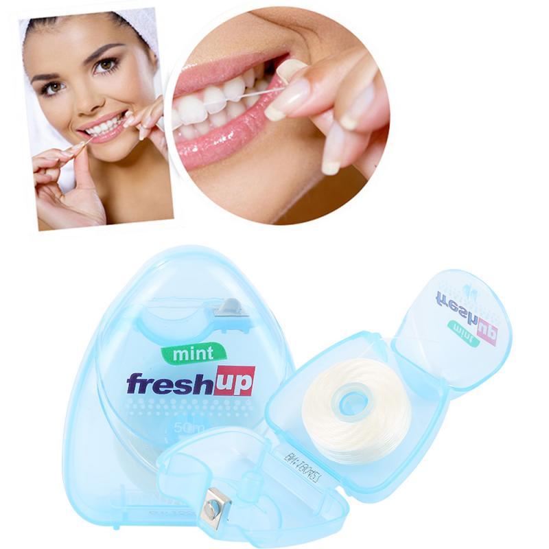 Portable 50M Micro Wax Mint Flavor Superfine Dental Floss Interdental Brush Teeth Stick Toothpick Floss Floss Oral Hygiene Clean