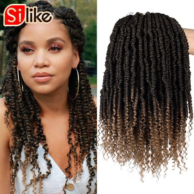 Spring Twist Synthetic Crotchet Hair Extensions Fluffy Twists Ombre Crochet Braids Fiber Pre Looped Braiding Hair Bulk
