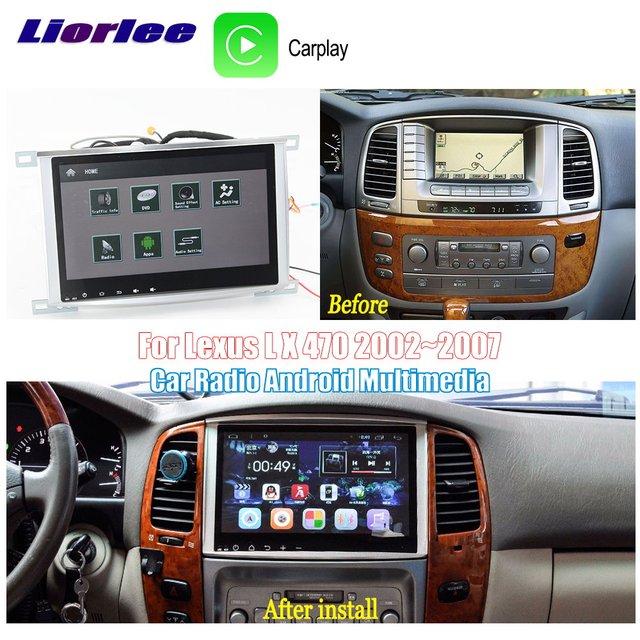 רכב אנדרואיד מולטימדיה נגן עבור טויוטה לנד קרוזר 100 2002 ~ 2007 רדיו אודיו ניווט BT HD מסך Carplay GPS מפות מערכת