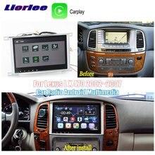 Автомобильный мультимедийный плеер на Android для Toyota Land Cruiser 100, 2002 ~ 2007, радио, аудионавигация, BT, HD экран, Carplay, система GPS карт