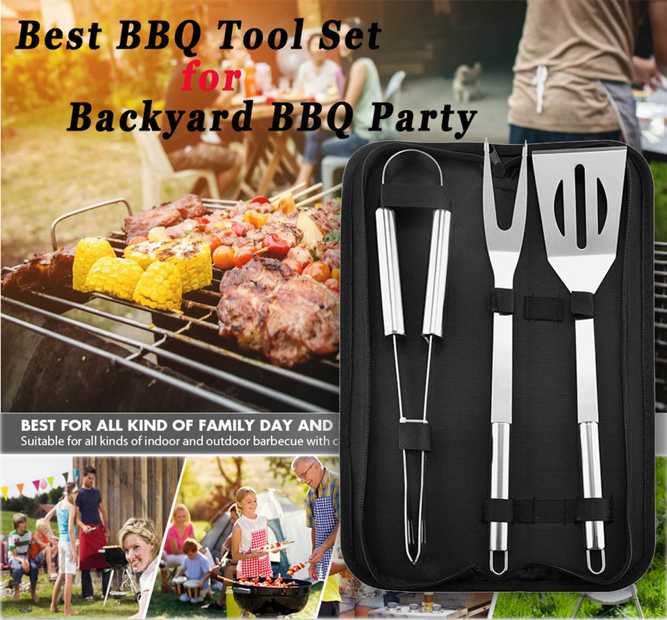 Stainless Steel BBQ Tools Set Barbecue Grilling Utensil Accessories
