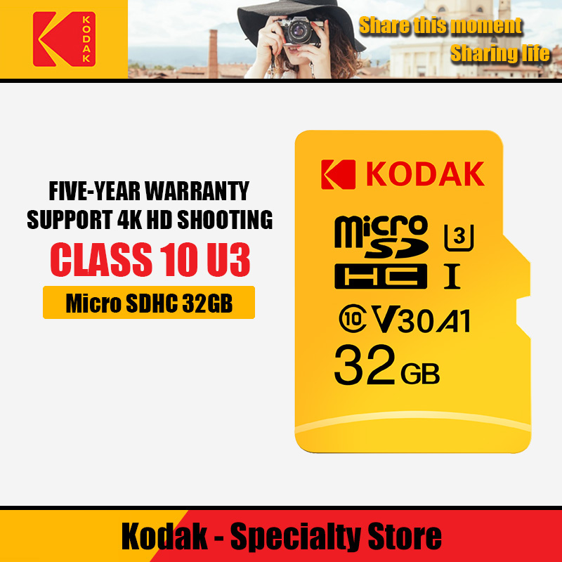 Kodak Tarjeta Micro Sd 128gb Memory Card 32GB Class10 U3 UHS-1 16gb Microsd 256gb TF Flash Cards 64gb Carte Micro Sd