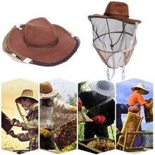 1 шт. для пчеловодства ковбойская шляпа Москитная пчелы, насекомые сетчатые защита головы