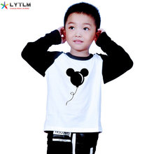 LYTLM Mickey Baby Boys Clothes 2020 Winter Boys T Shirt For Birthday Anime Boys Tshirts Toddler Boys Long Sleeve Tops Autumn(China)