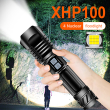 xhp100 High power led flashlight rechargeable 18650 26650 ba