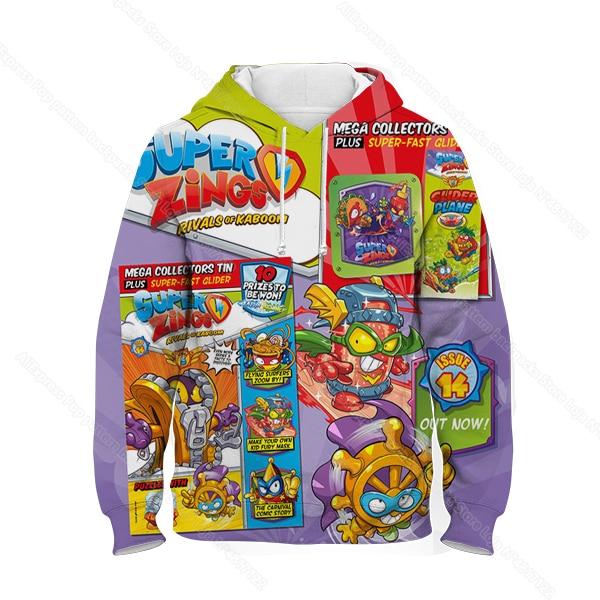 Kids 3D Print Super Zings Hoodie Autumn Winter Children Superzings 6 Series Sweatshirt Sudadera Boy Girl Cartoon Anime Pullover 11