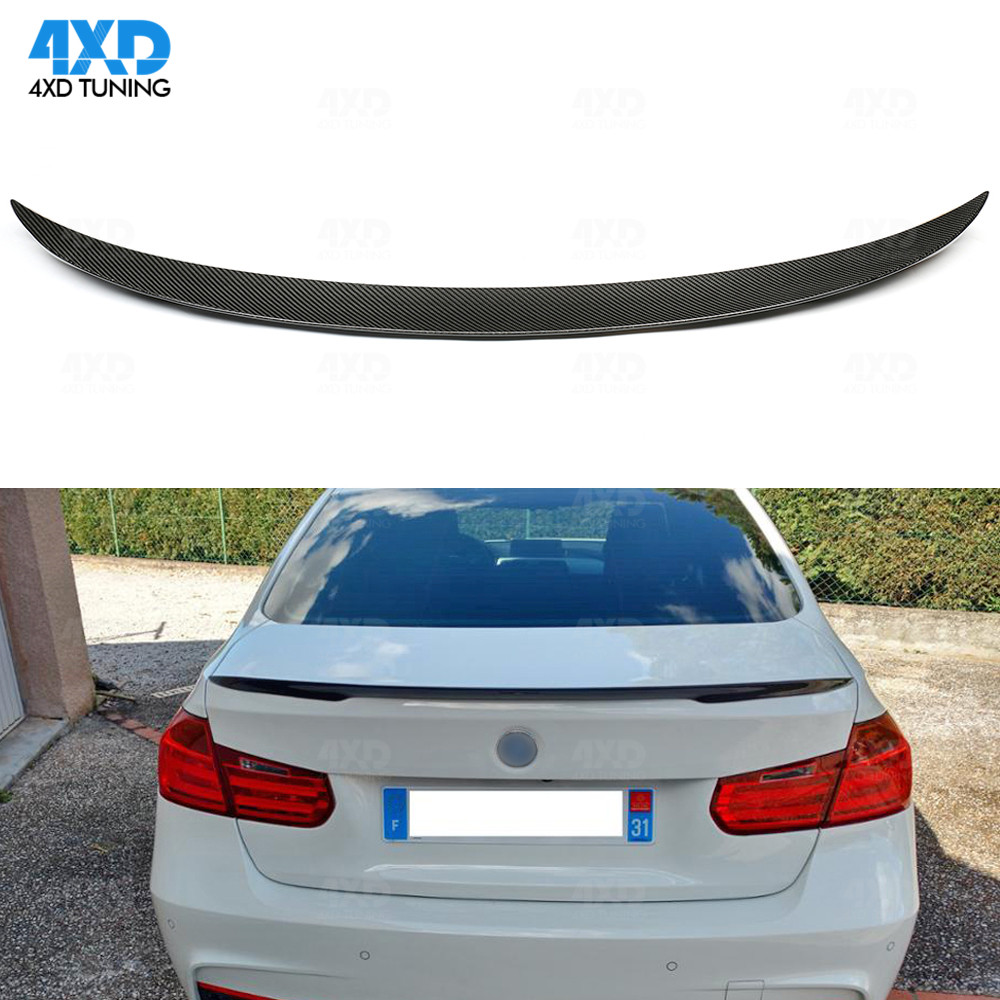 F30 Carbon Fiber Spoiler P Style For BMW F80 M3 316i 318i 320i 328i 335i Rear Trunk Spoiler 2012 2013 2014 2015 2015 2016 2017 2018+