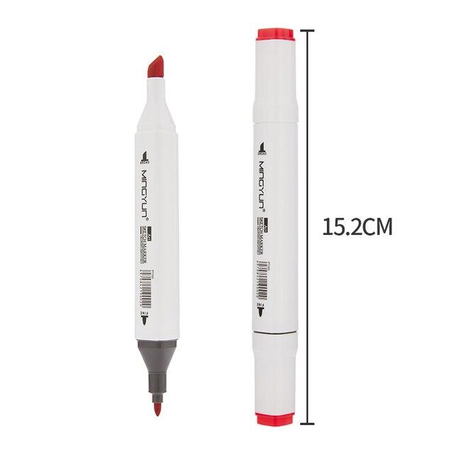 12/24/36/48/60 colori A Doppia Punta Belle Liner Art Marker Penne Acquerello Disegno Pittura Marcatori Penna forniture Scolastiche pennello 04379 4