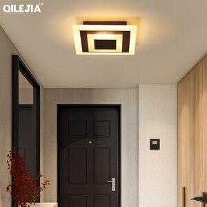 Image 2 - Lámpara acrílica cuadrada/redonda para sala de estar, dormitorio, hogar, AC85 265V, candelabro Led moderno, accesorios, novedad