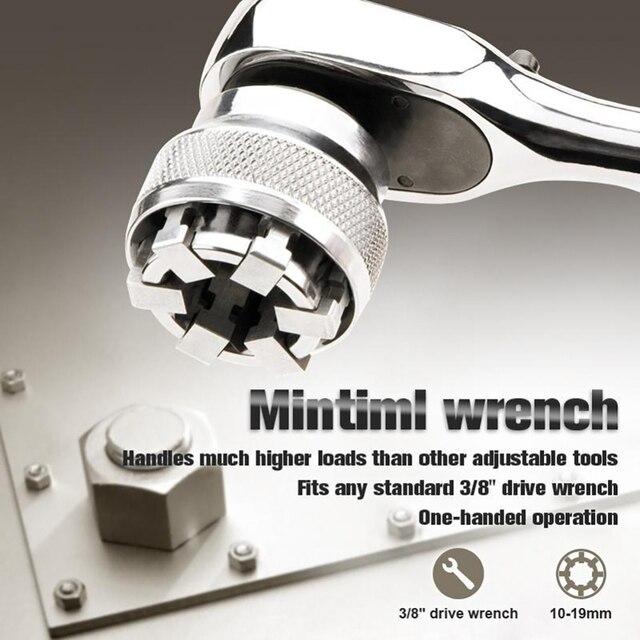 Clé multifonction adaptative, douille de fixation multi perceuse, acier au chrome, molybdène, outils à main