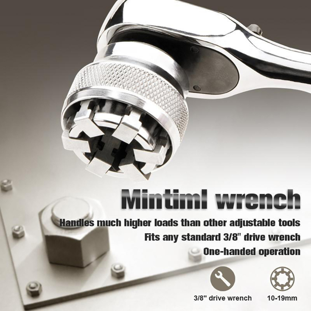 Multi Function Wrench Adaptive All Fitting Multi Drill Attachment Socket Chromium Molybdenum Steel Wrench Hand Tools
