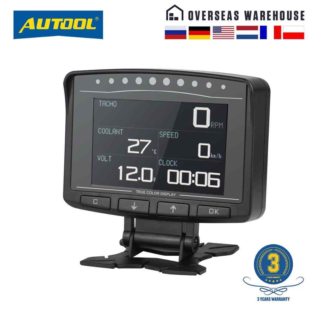 Autool x50 프로 obd ii hud 헤드 업 디스플레이 디지털 자동차 컴퓨터 자동 ecu 필름 게이지 속도 측정기 전자 모니터 진단 도구