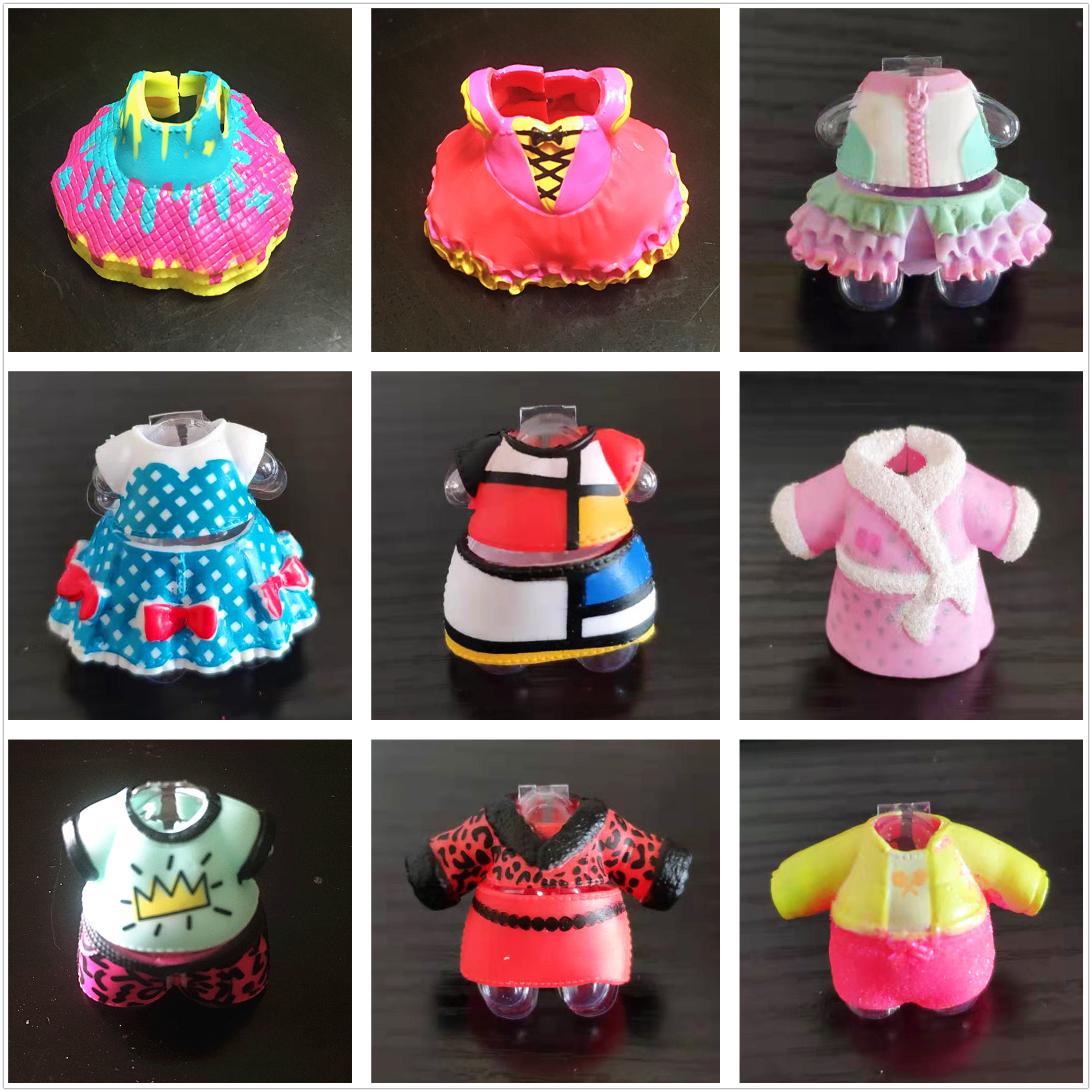 Can Choose Retail 1 Piece Original Dress Clothes Suits For LOLs 8cm Big Sister Dolls Kids Toy Girl Birthday Gift Free Shipping