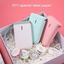 D11 Niimbot Transparent Label Sticker Paper Kindergarden Waterproof Inkleess Rectangle Round Classification Mug Bottle Tag