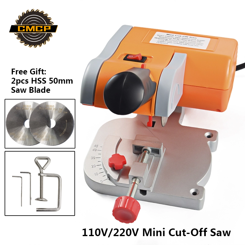 110V/220V Mini Cut-Off Saw For Cutting Metal Wood Plastic Mini Table Cutting Machine Mini Bench Saw
