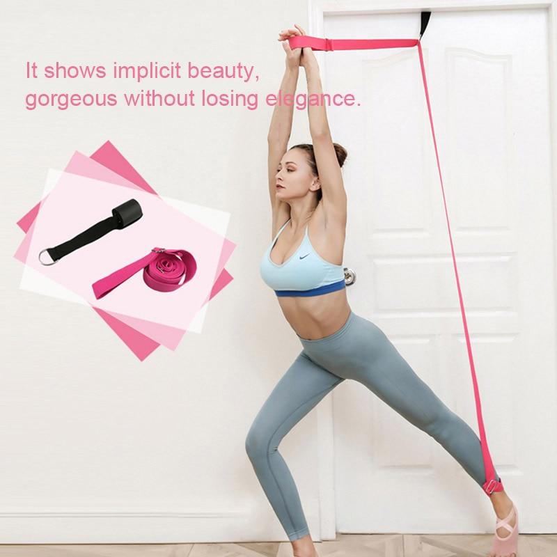 ROEGADYN Yoga Stretch Strap Resistance Bands Indoor Fitness Yoga Ballet Bandas Fitness Stretching Strap Resistance Bands