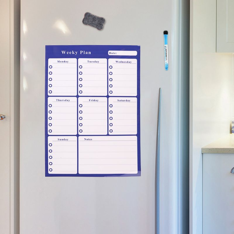 A3 Weekly Planner Soft Magnetic Whiteboard Fridge Magnets Drawing Message Board