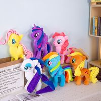 6Pcs/Set Unicorn Rainbow Horse Plush Doll Stuffed Animals Horse Kids Toys 30CM