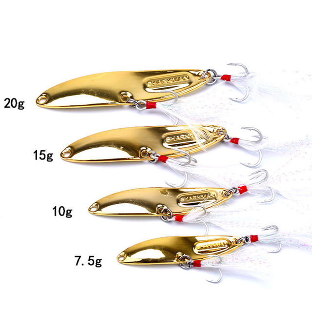 Hyperbolic Lure Sequins With Blood Slot Feather Hook 10/15/20/25 G  Freshwater Long Shot Fake Bait Wobbler Bait For Fishing|Fishing Lures|   -