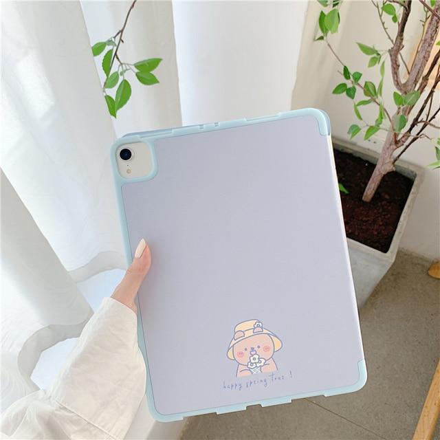 """Dessin animé mignon pour iPad AIR 3 10.5 """"Pro 2019 7th 10.2 pouces étui pour iPad 2017 2018 9.7 Mini 5 couverture Capa avec étuis porte-crayon"""