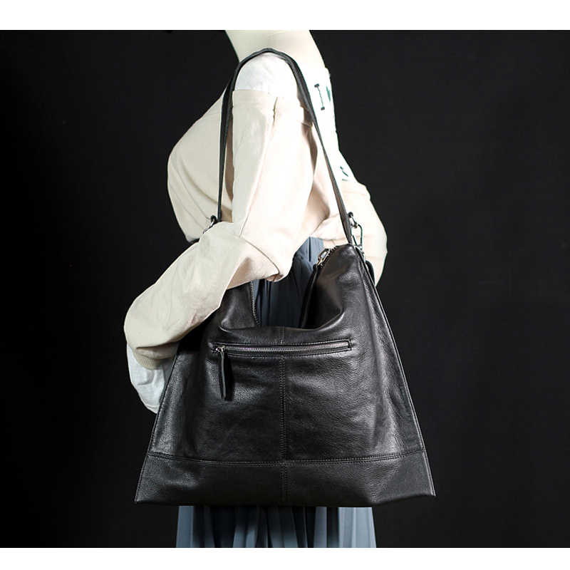 IPinee đeo vai nữ túi xách nữ cao cấp Hobo tay Túi da thật chính hãng Da Lớn đeo Túi nữ