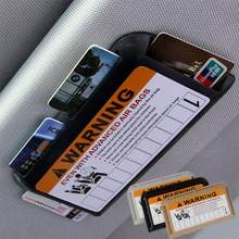 Parking Card Car Sun Visor IC Clip Card Holder Card Organizer(China)