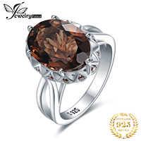 JewelryPalace Riesige Genuine Rauchquarz Ring 925 Sterling Silber Ringe für Frauen Engagement Ring Silber 925 Edelsteine Schmuck