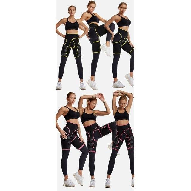 Three-in-one Yoga shorts hip belt explosion sweat belt sports bodybuilding adjustable durable waist belt leg belt Yoga shorts 2