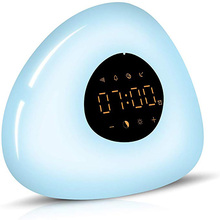 Wake Up Light Alarm Clock LED Bedside Lamp Touch Control Night Sunrise Sunset Simulation 6 Nature Sounds for Bedroom Gift