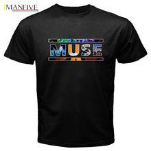 2019 Summer T Shirt Muse Logo Crew Neck Regular Short Sleeve Tee For Men