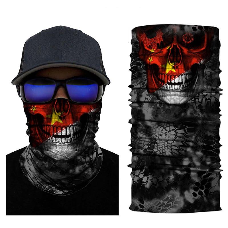 Skull Face Counrty Flag Seamless Balaclava Scarf 10