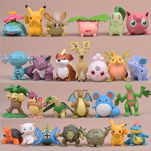 Takara Tomy 13 pçs/set 5 centímetros Totodile Geodude Pidgeot Chikorita Pikachu Pokemon Action Figure Modelo Coleção de Brinquedos para As Crianças