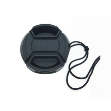 30pcs/lot 37mm center pinch Snap on cap cover logo for olympus Lens