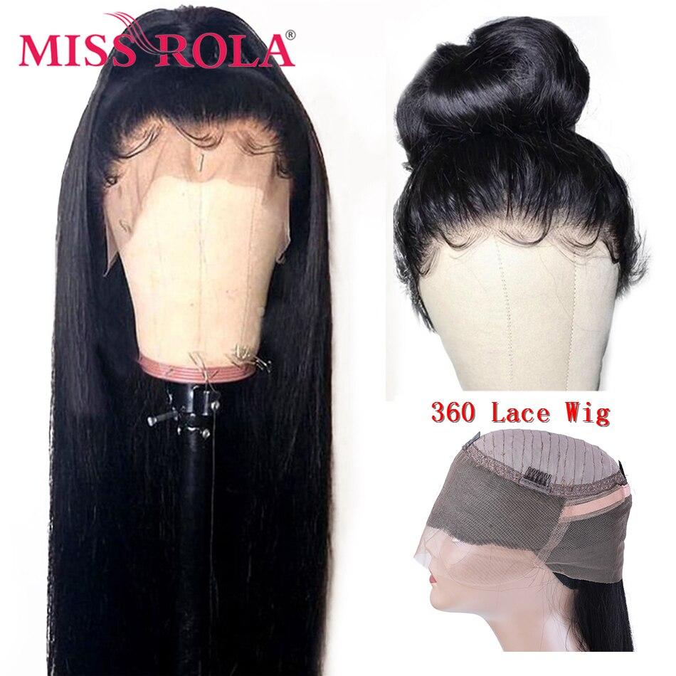Miss Rola – perruque brésilienne naturelle, cheveux lisses, 360, densité 150%