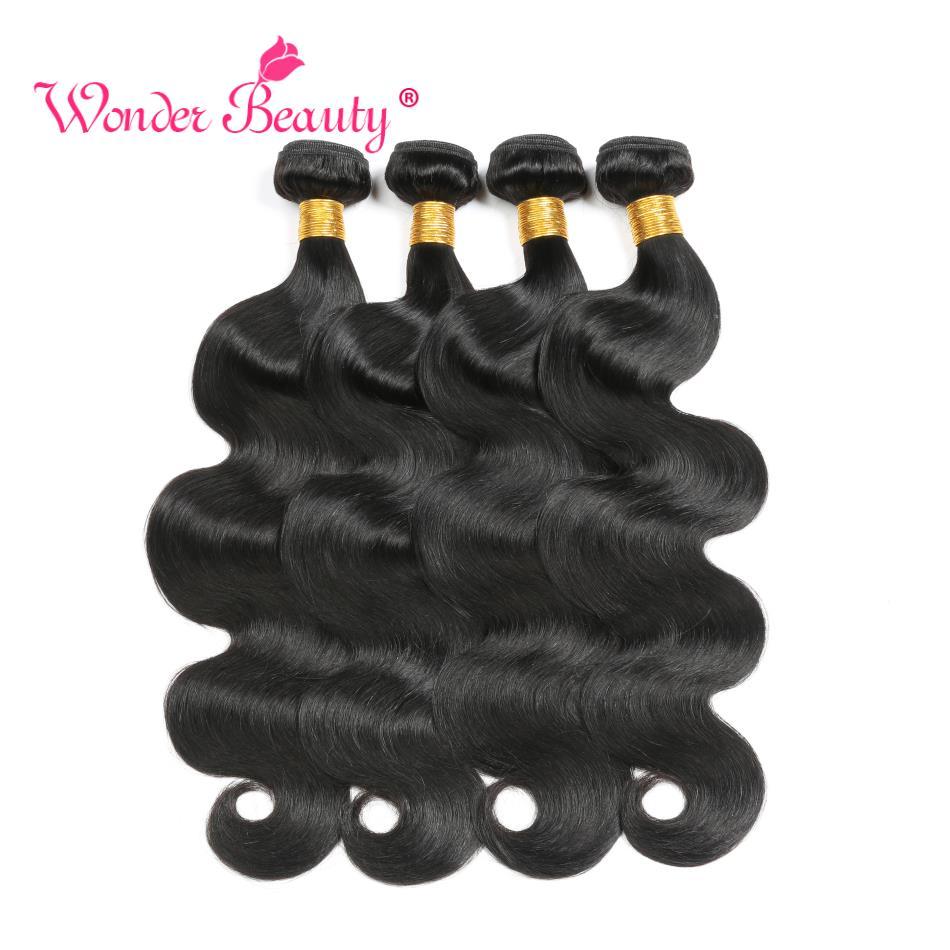 Body Wave Bundles Brazilian Hair Weave Bundles 100% Human Hair Bundles Wonder Beauty Natural black Remy Human Hair Extension