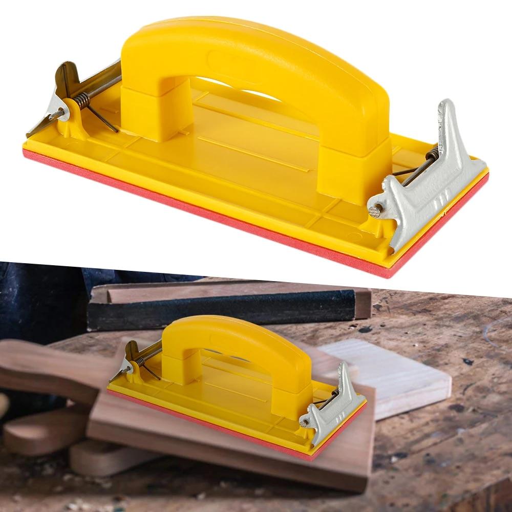 Polishing Hand Grip Holder Sandpaper Abrasives Woodworking Tools Sander S