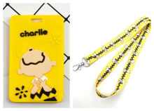 Retail 1 pcs anime peanut boys dogs Named Card Holder Identity Badge with Lanyard Neck Strap Card Bus ID Holders With Key Chain(China)