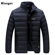 Big Size 2019 Witte Eendendons mannen Winter Jacket Ultralight Donsjack Casual Bovenkleding Sneeuw Warm Bontkraag Merk jas Parka(China)
