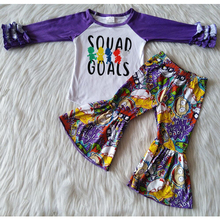 Outfit Tops Children-Sets Long-Sleeve Boutique Baby-Girls Fashionable Bell-Bottomed-Pants