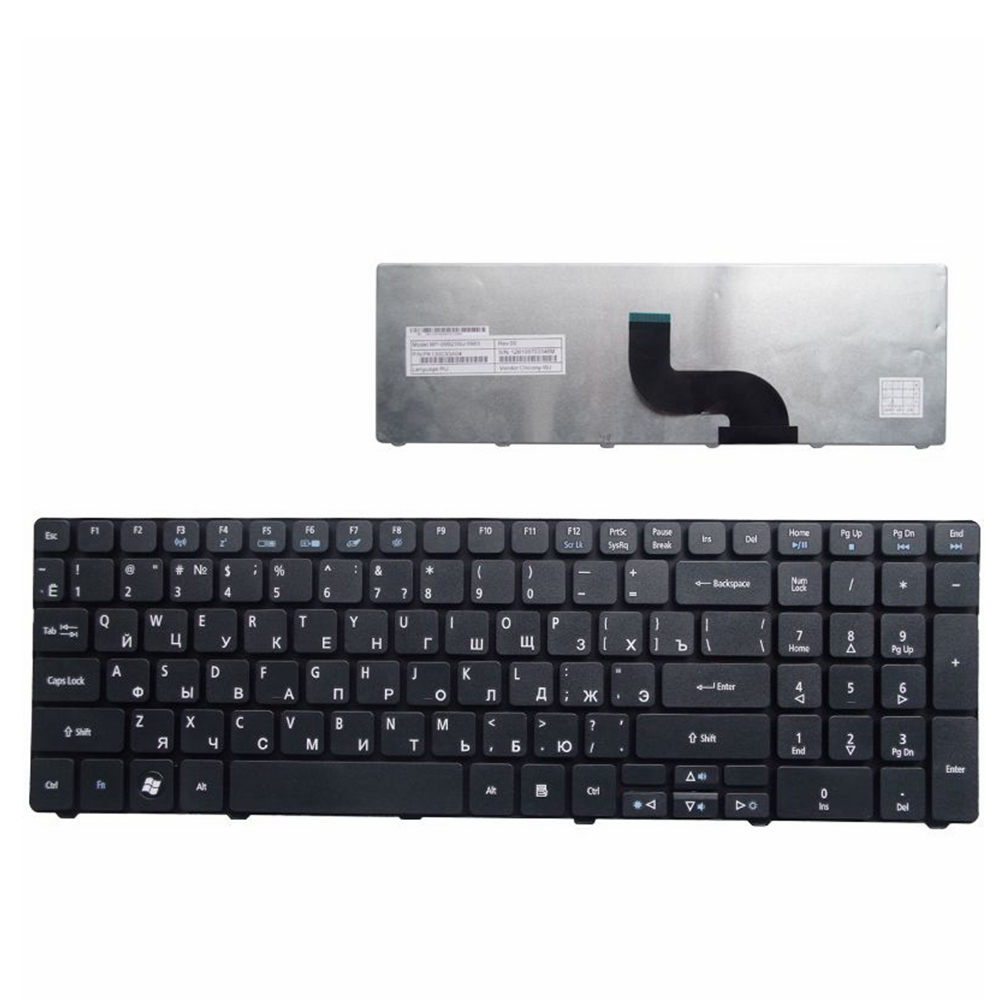 Russian Keyboard for Acer Aspire 1670 1672 3102 3030 3100 3650 3600 3690 3692 3693 5101 5102 5103 5100 5110 5610 5610Z RU Black