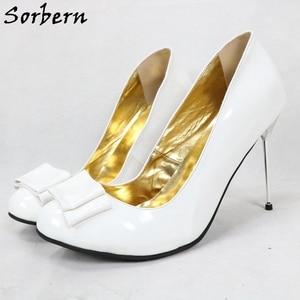 Image 5 - Sorbern White Women Pump High Heel Shoe Stilettos Custom Color For Every Party Shoe Staple Heels 12Cm 13Cm 14Cm 15Cm 16Cm 18Cm