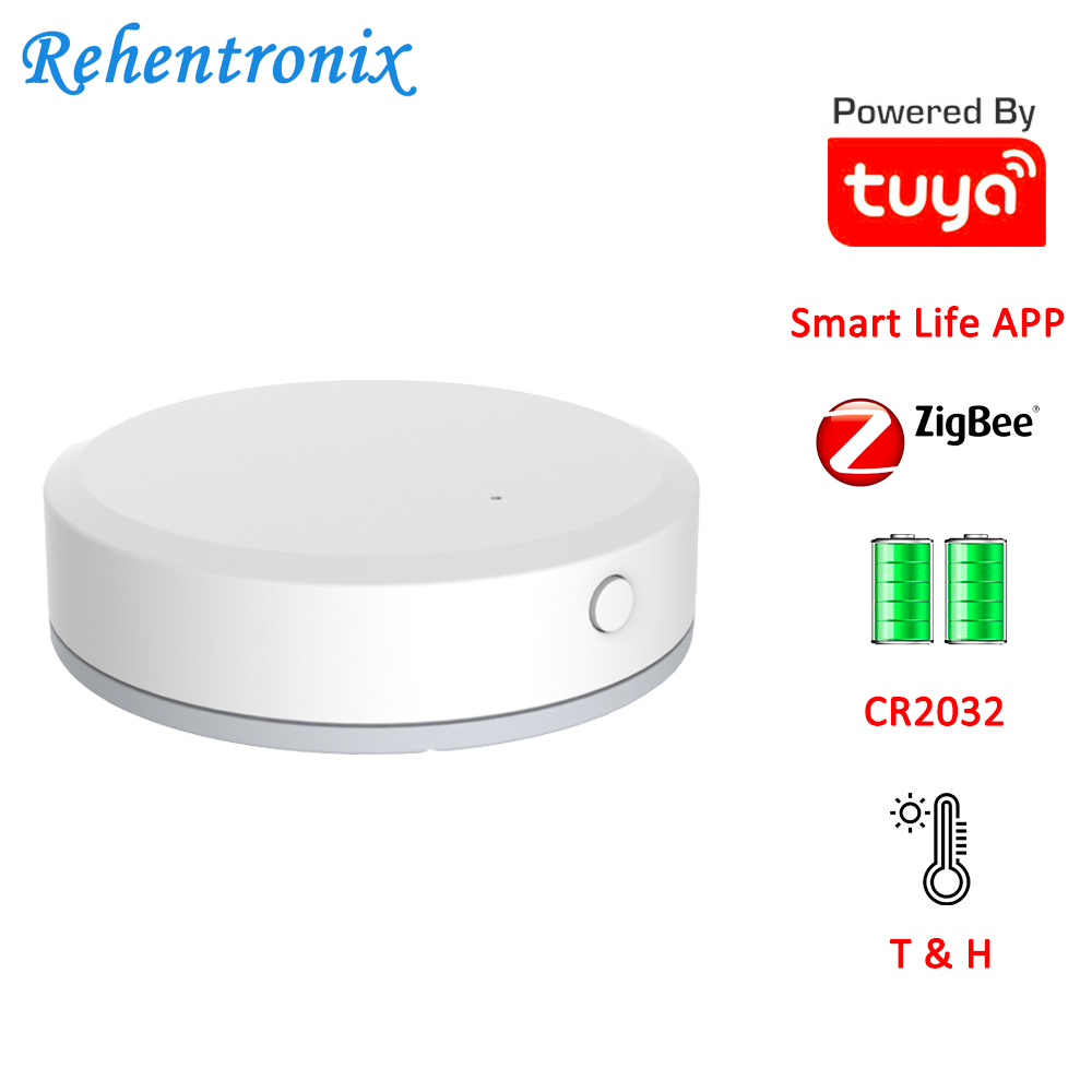 Mini Smart Life APP Tuya ZigBee Temperature Humidity Sensor Built-in Battery