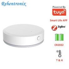 Mini Smart Life APP Tuya ZigBee Temperature Humidity Sensor Built-in Battery