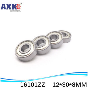 20pcs/lot free shipping quality High quality deep groove ball bearing 16101ZZ 12*30*8 mm