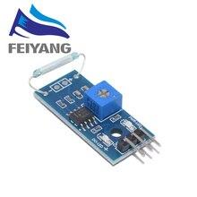 Датчик с язычковым контактом модуль магнетронный модуль геркон магнитный переключатель для ардуино Diy Kit