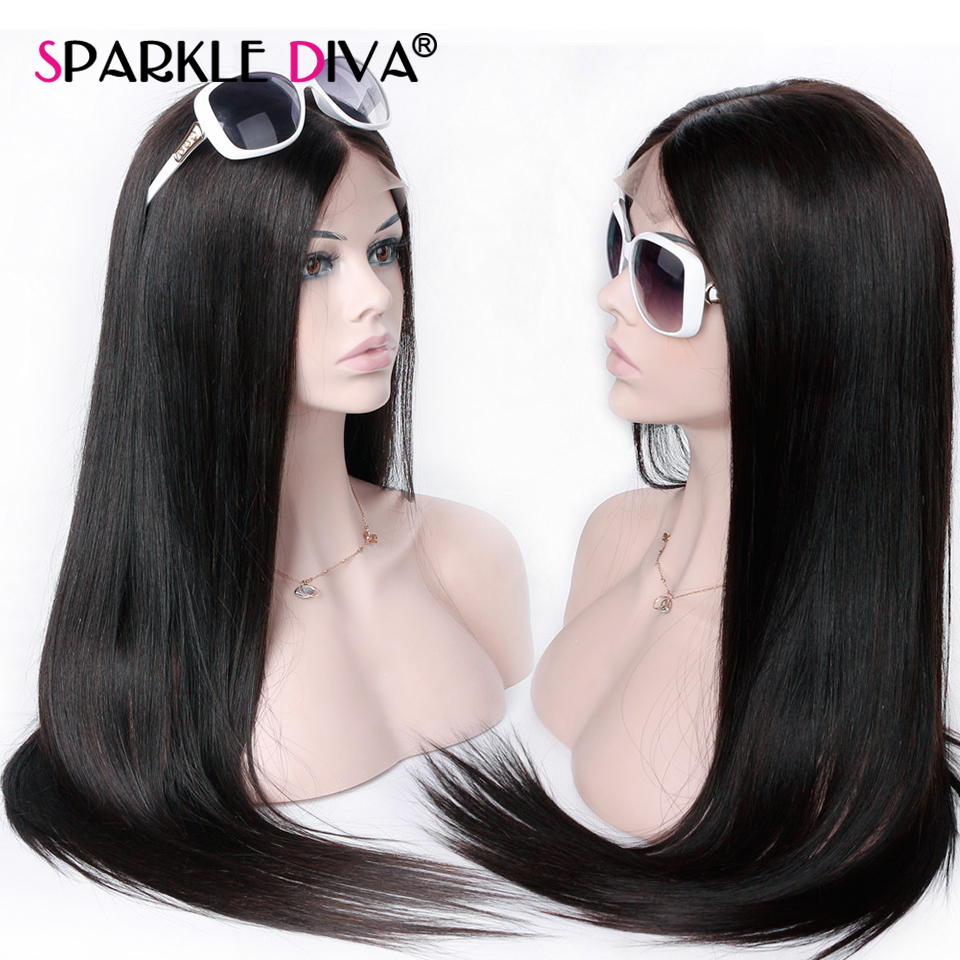 360 Lace Frontal Wig Human Hair Wigs Pre Plucked Brazilian Straight Lace Frontal Wig 150% Density Remy Lace Wig For Black Women