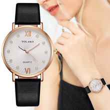 Womens watches top brand luxury/Fashion Leather Blue/Red/Black/White/Purple Simple Quartz watch for Gifts Relogio Feminino 2019