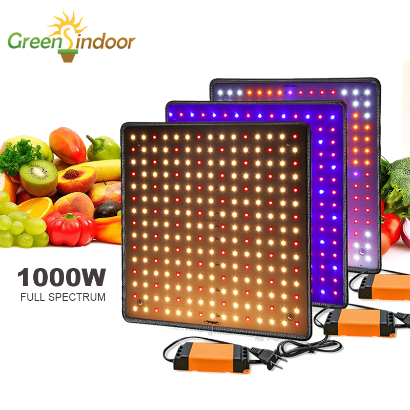 Phyto Lamp Indoor Led 1000W 3500K Grow Light Panel Full Spectrum For Flowers Led Lamp For Plants Herbs Growth Fitolamp Grow Tent